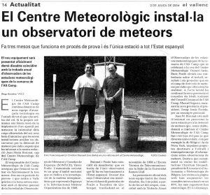 Inauguración observatorio de Valls